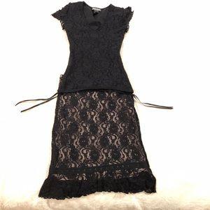 Bisou Bisou matching top & skirt XS